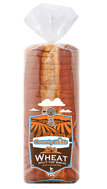 "County Mills Split Top Wheat Bread 1/2"" 16-20oz Packaged"