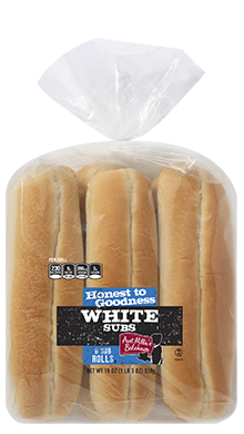 Honest to Goodness - Sub Roll, White, 10-6ct Packaged