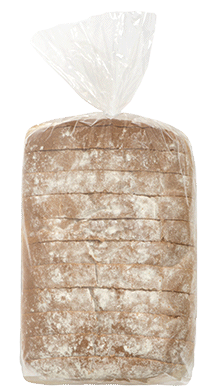"High Crown White Bread 3/4"" 8-22oz Packaged"
