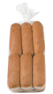 100% Whole Wheat Hot Dog Bun 6