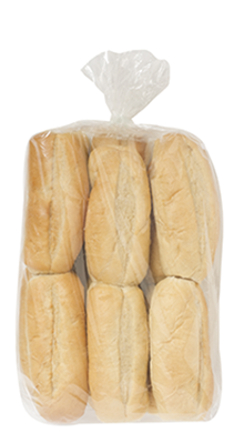 "6"" French Sub Buns 4-12ct Packaged"