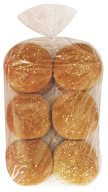 Low Profile Whole Grain Hamburger Bun 3.5