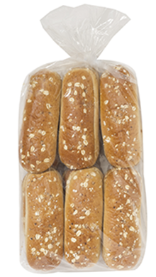 "Stout Beer Brat Bun 6.5"" 6-12ct Packaged"