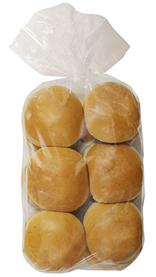 "Brioche Hamburger Bun 4"" 10-12ct Packaged"
