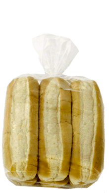"White Sliced Sub Bun 8"" 12-8ct Packaged"