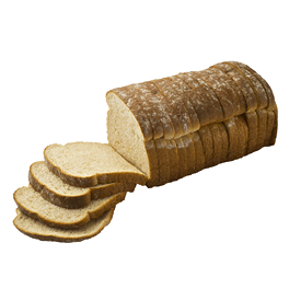 "Whole Grain Honey White Bread  1/2"" 16-24oz Sliced"