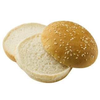 "Double Decker Seeded Hamburger Bun 4"" 10-12ct Sliced 2"