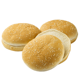 "Seeded Hamburger Bun 5"" 6-12ct Sliced"