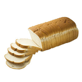 "Soft White Bread 1/2"" 16-22oz Sliced"