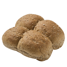 Pull-Apart Dinner Roll Cracked Wheat .875oz 12-16ct Sliced