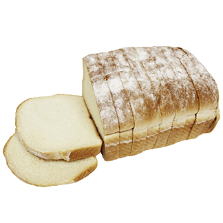 "High Crown White Bread 3/4"" 8-22oz Sliced"