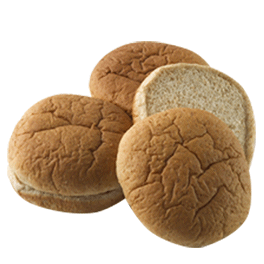 "100% Whole Wheat Hamburger Bun 4"" 10-12ct Sliced"