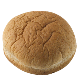 "100% Whole Wheat Hamburger Bun 4"" 10-12ct Sliced 2"