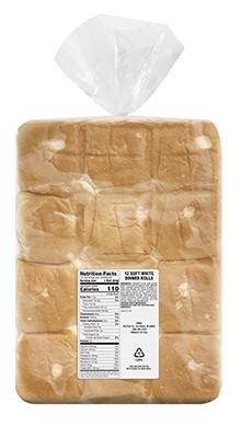 Soft White Dinner Rolls, 12ct Sliced
