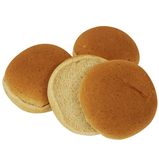 "Whole Grain White Wheat Hamburger Bun 4"" 10-12ct Sliced"