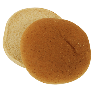 "Whole Grain White Wheat Hamburger Bun 4"" 10-12ct Sliced 2"