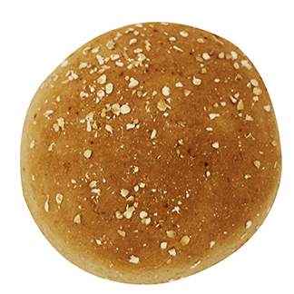 "Low Profile Whole Grain Hamburger Bun 3.5"" 10-12ct Sliced 2"