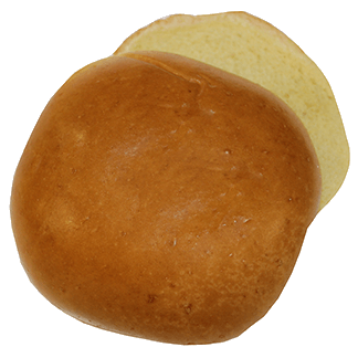 "Brioche Hamburger Bun 4"" 10-12ct Sliced 2"