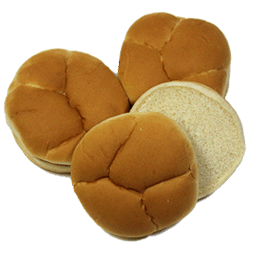 "Golden Hamburger Bun 4"" 10-12ct Sliced"