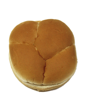 "Golden Hamburger Bun 4"" 10-12ct Sliced 2"