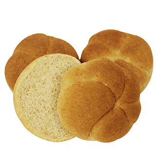 "Whole Grain White Wheat Kaiser Bun 4"" 10-12ct Sliced"