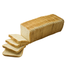 "White Pullman Bread 1/2"" 12-22oz Sliced"