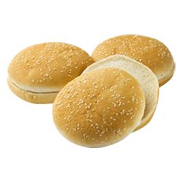 "Seeded Hamburger Bun 4"" 10-12ct Sliced"