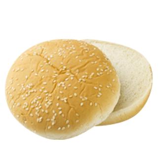 "Seeded Hamburger Bun 4"" 10-12ct Sliced 2"