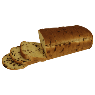 "Raisin Bread 3/4"" 7-32oz Sliced"