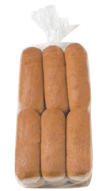 100% Whole Wheat Hot Dog Bun 6