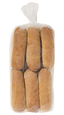 Whole Grain Wheat Hot Dog Bun 6